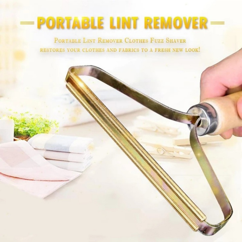 Wooden Handle Manual Portable Clothing Care Lint Remover Sweater Clothes Lint Remover, Trimmer Shaver Lint remover