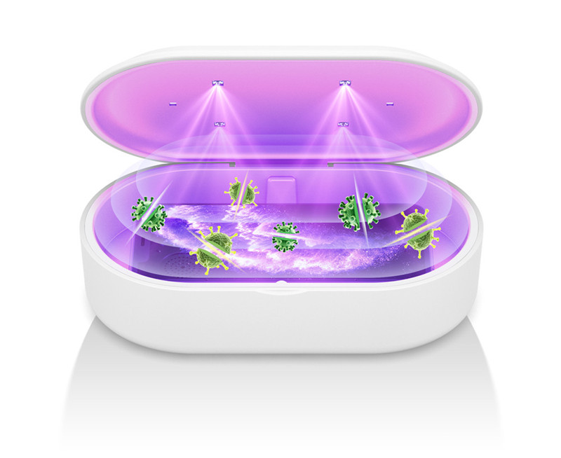 Portable UV Ozone Sterilizer Box Sanitizer Kill Germs USB UV Light Sterilizer Box with Phone Wireless Charger Disinfector