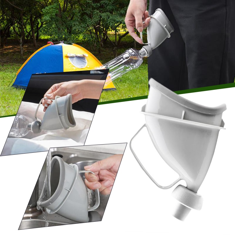 Unisex Portable Mobile Urinal Funnel Outdoor Camping Hiking Festival Urination Funnel Device Car Handle Urine Bottle Toilet