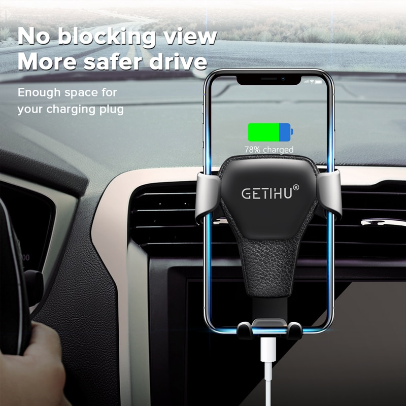 GETIHU Gravity Car Holder For Phone in Car Air Vent Clip Mount No Magnetic Mobile Phone Cell Stand Support For iPhone 11 XS X XR
