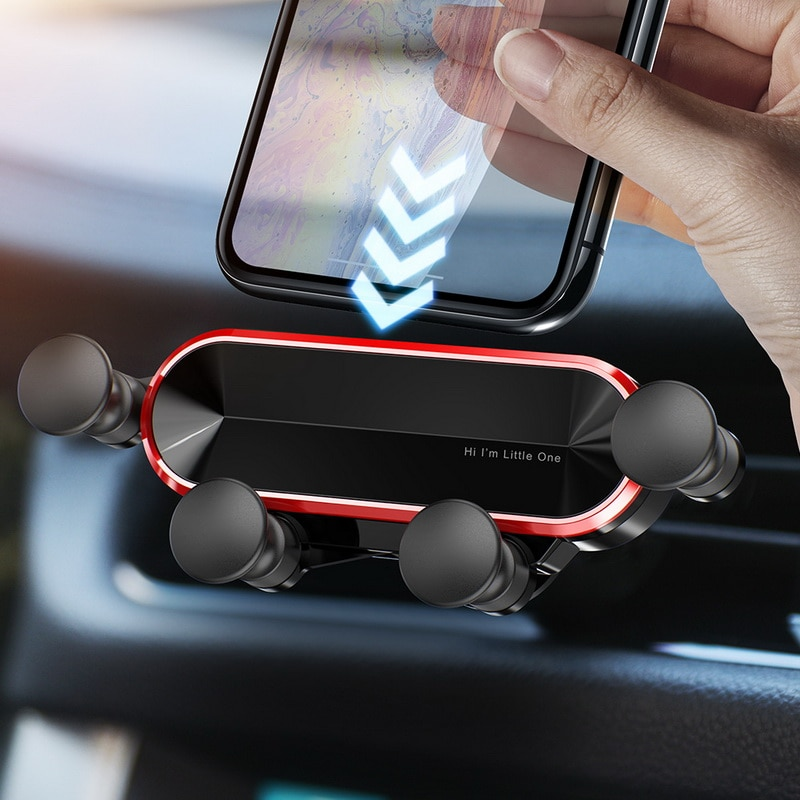 GETIHU Gravity Car Phone Holder Air Vent Clip Mount No Magnetic Mobile Support Cell Stand Smartphone in Car For iPhone X Xiaomi
