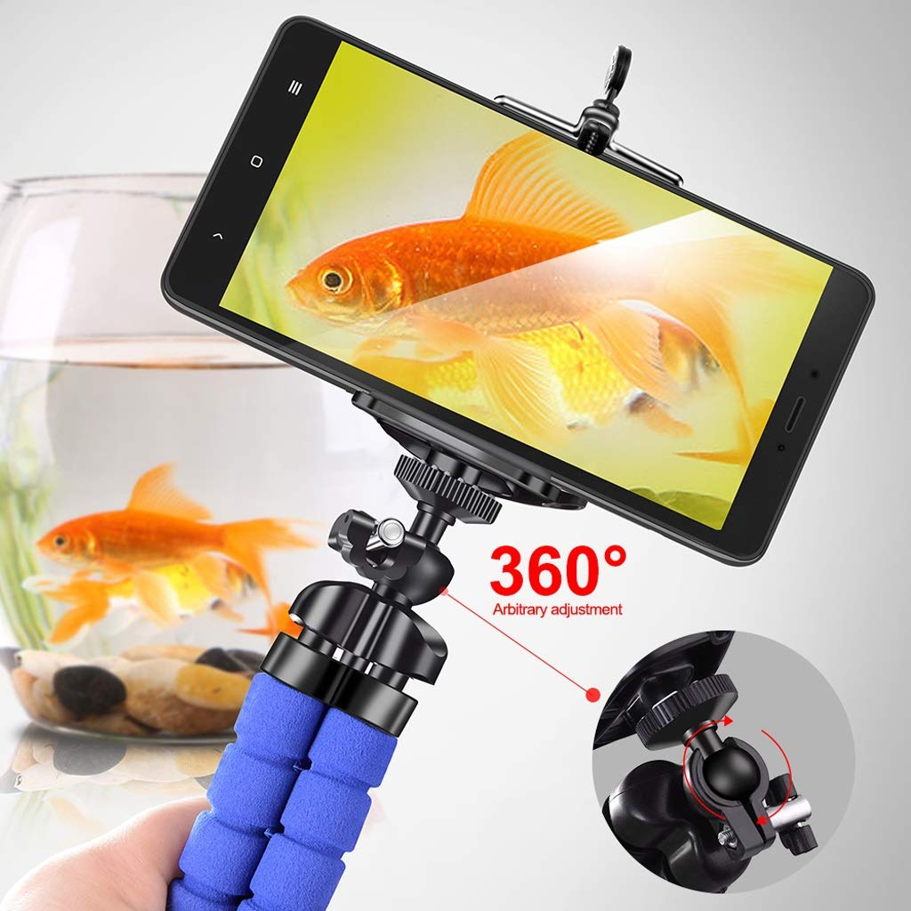Phone holder Tripods tripod for phone Mobile camera desk holder Flexible Octopus Bracket For iPhone Xiaomi Samsung Clip Holder
