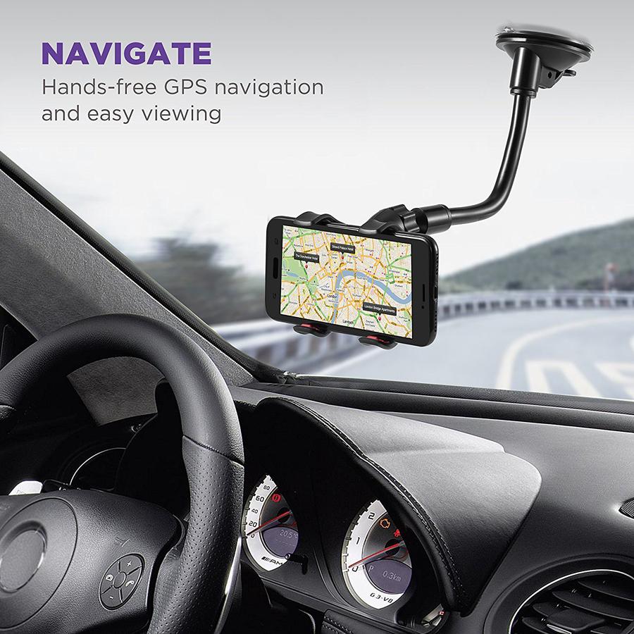 Olaf Phone Car Holder Flexible 360 Degree Rotation Mount Windshield Mobile Phone Holder For phone Car Phone Holder Support GPS