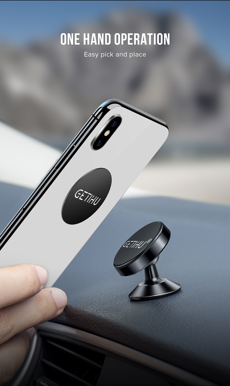 GETIHU Universal Magnetic Car Phone Holder Mobile Cell Air Vent Mount Magnet GPS Stand in Car For iPhone 11 Pro Xs Max X Xiaomi
