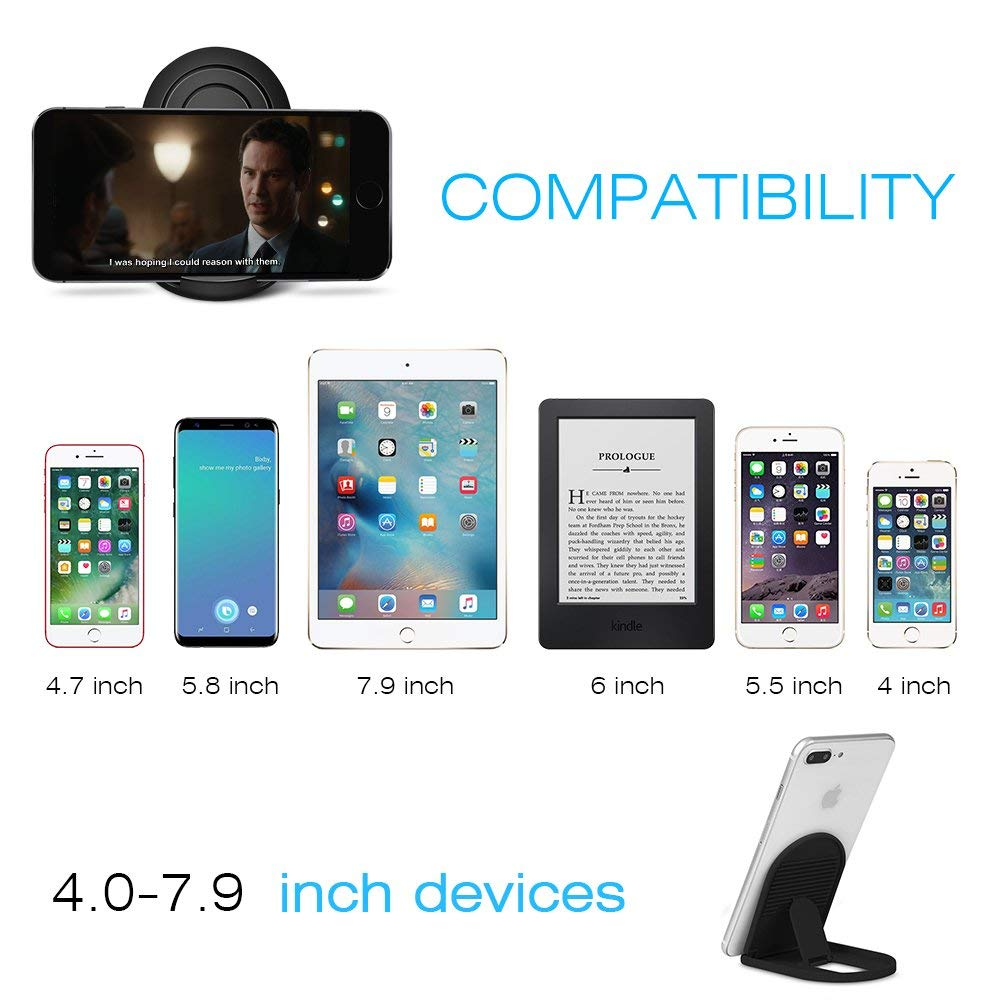 Cell Phone Stand Portable Foldable Desktop Mobile Phone Holders Adjustable Universal Multi-Angle Cradle for Tablet iPhone Xiaomi