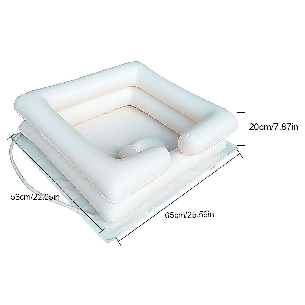 Portable Inflatable Sink Set Wash Basin PVC Shampoo Basin Foldable Sink For Elderly Disabled Nursing