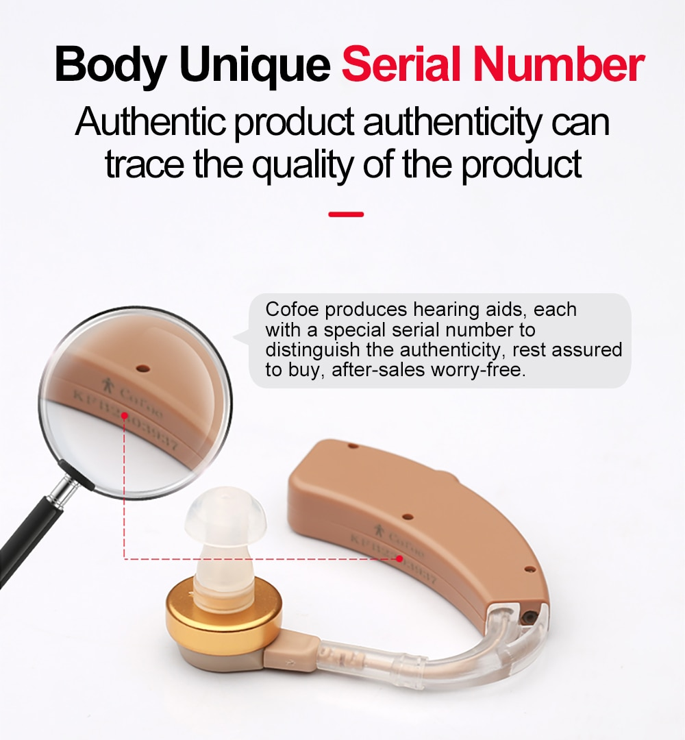 Cofoe Hearing Aid Rechargeable Hearing Aids Mini BTE Invisible USB Ear Aid Sound Amplifier For The Elderly Care Deaf Hear Device