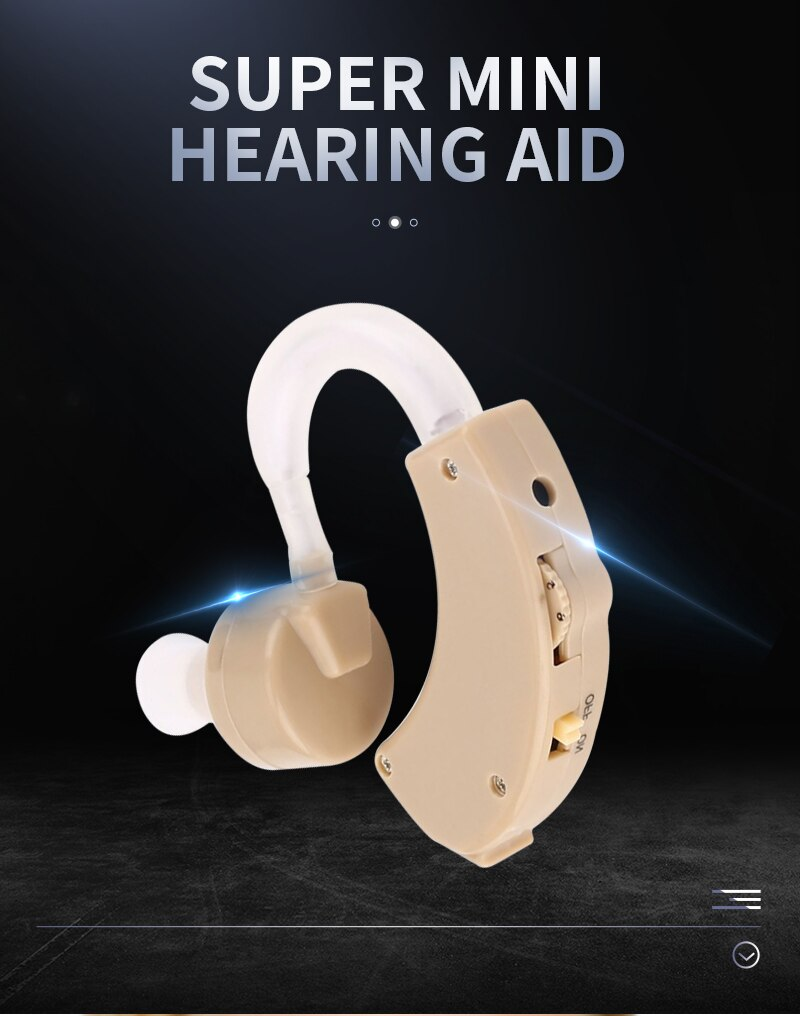 Super Mini Hearing Aid Ear Sound Amplifier Adjustable Tone Hearing Aids Portable Ear Hearing Amplifier for the Deaf Elderly