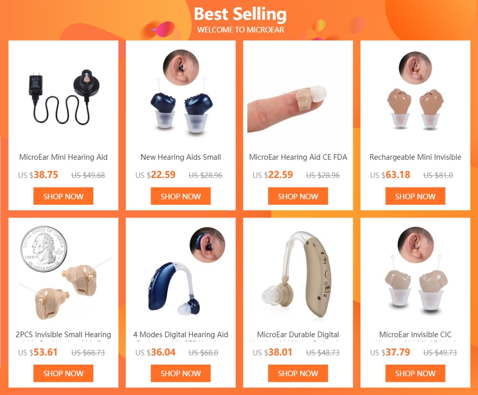 Invisible CIC Hearing Aid Rechargeable mini Hearing Aids for the elderly Wireless Ear Aids Hearing Loss Device Drop Shipping