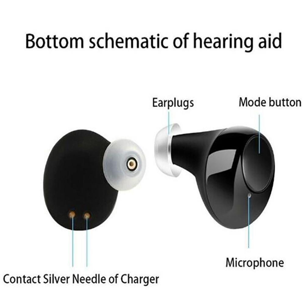 2020 New Digital Best Quality Mini CIC Hearing Aid Invisible Hearing Aids Sound Amplifier Good as Siemens Hearing Aid