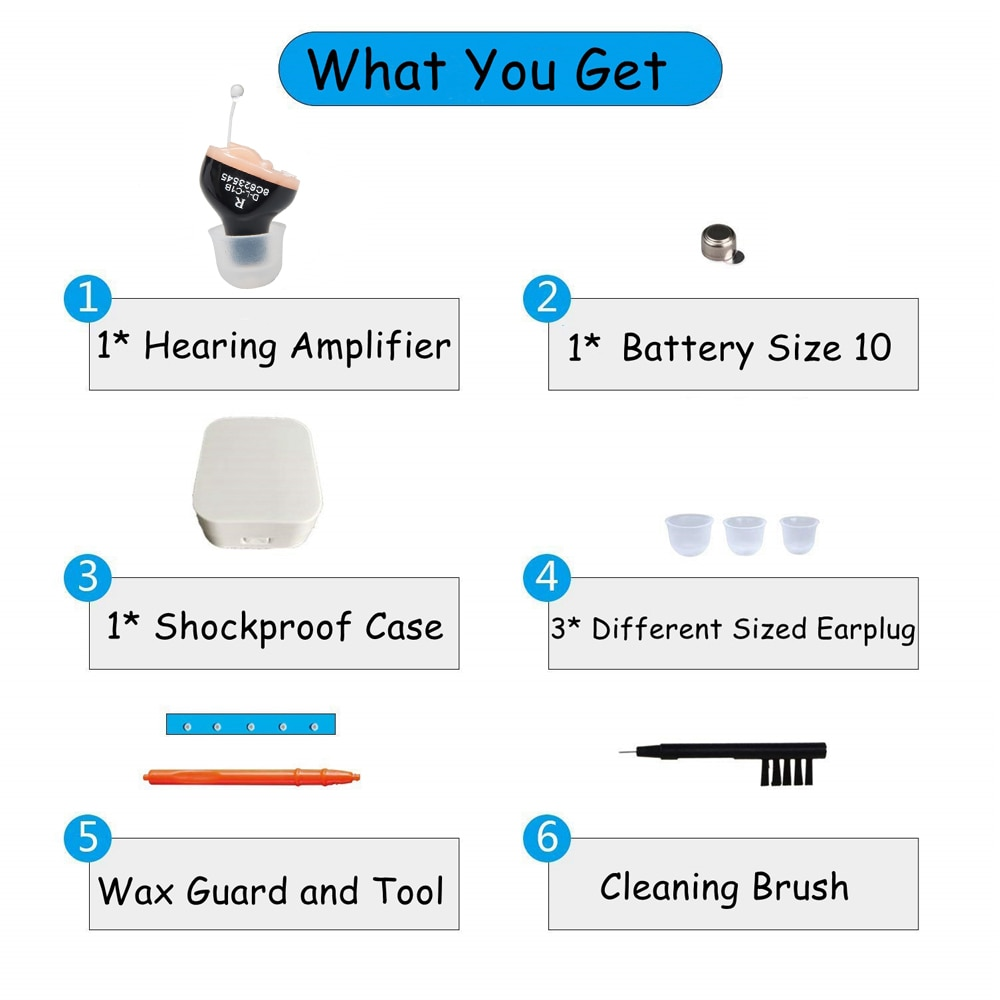 B01 CE FDA Small inner Ear Invisible hearing aid Best Mini Device Hearing Aids Adjustable Hearing Sound Amplifier Dropshipping