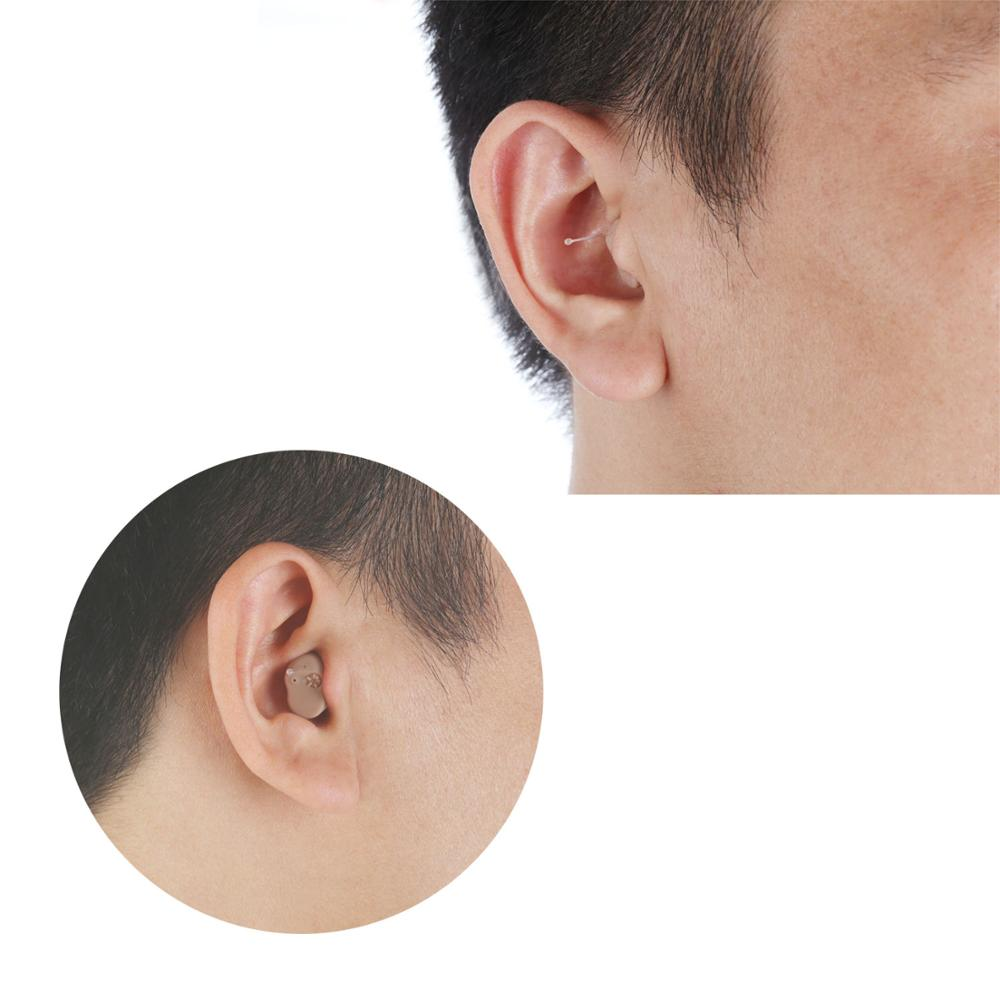 New Design Portable ITC Hearing Aids Mini In Ear Earing Aid Hearing Amplifier with Adjustable Tone Digital Hearing Aid Ear Care