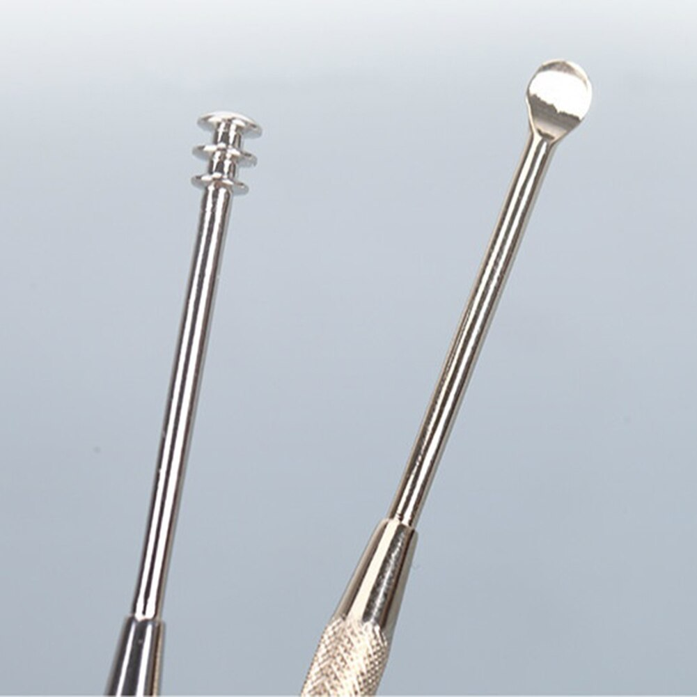 Stainless Steel Portable Earpick Ear Wax Removal Tools Safe Ear Cleaner Earpick Spoon Digging Cleanning Brushing Ears Curette