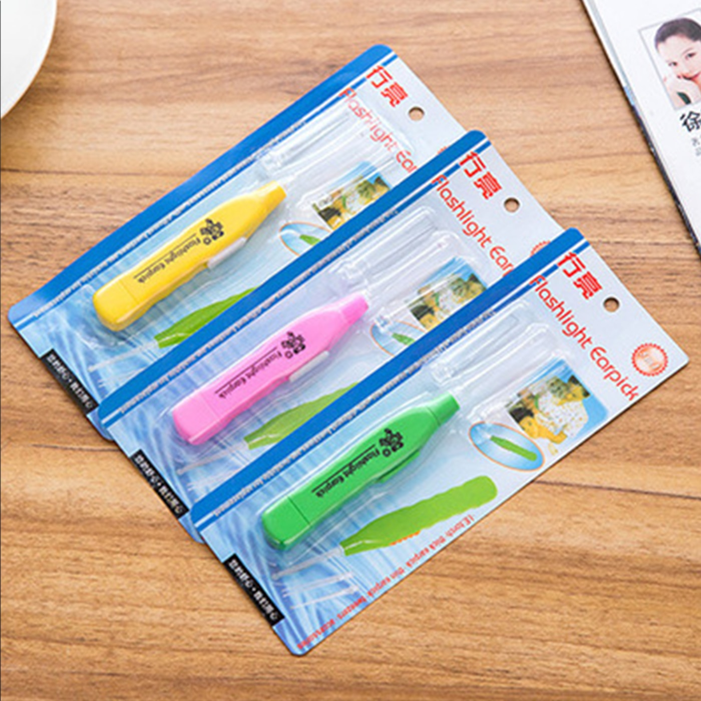 LED light Ear Cleaner Earpick Remove Ear Wax Baby Child Ear Spoon Curette Ear Cleaning Ear Care