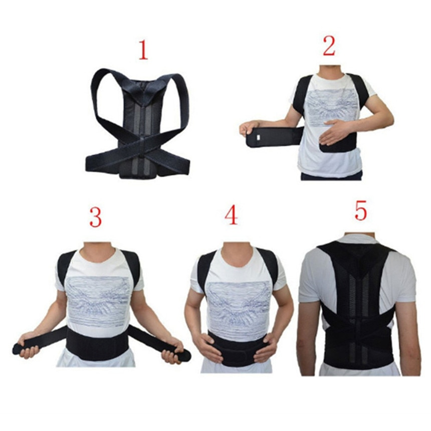 2019 New Motorcycle Back Protection Magnetic Shoulder Corrector Support Brace Belt Therapy Men Women