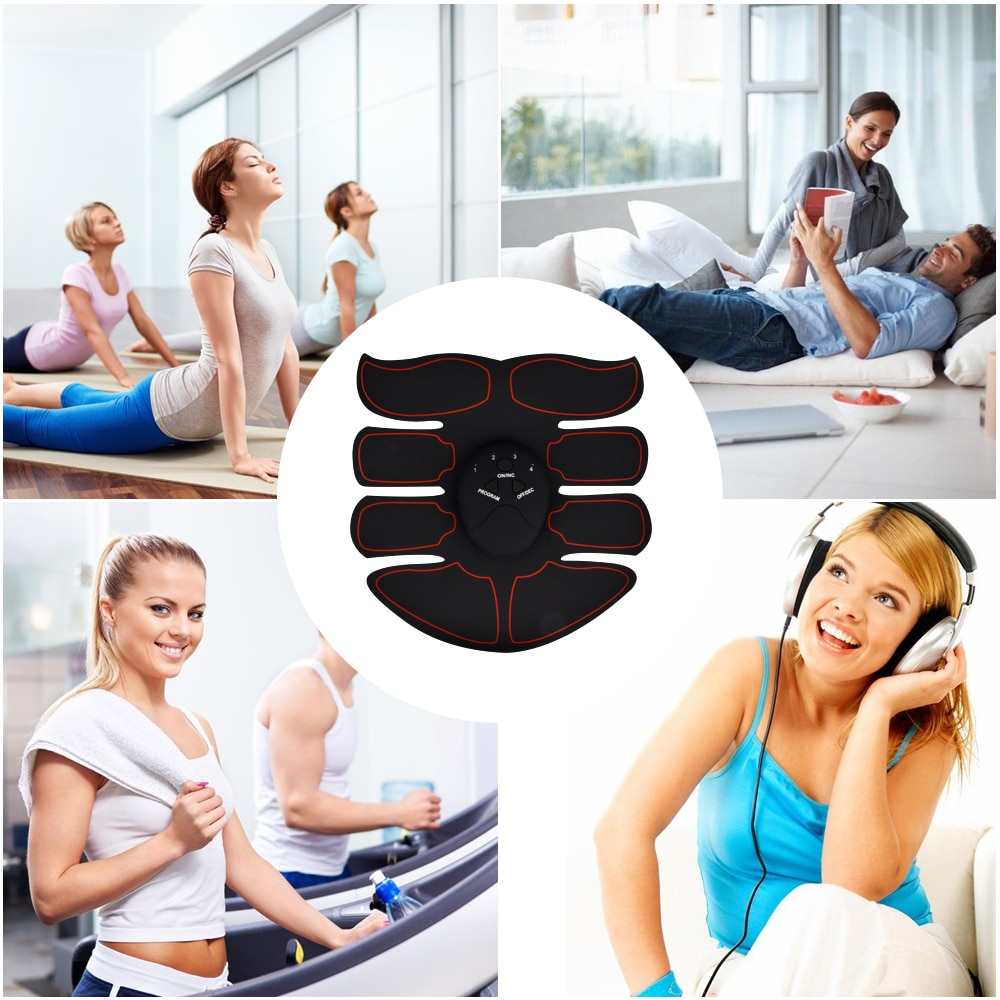 Electric Muscle Stimulator ems Wireless Buttocks Hip Trainer Abdominal ABS Stimulator Fitness Body Slimming Massager