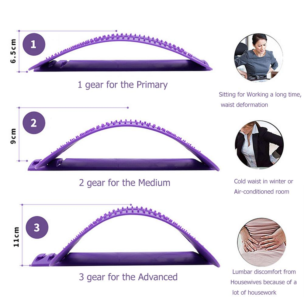 Back Stretch Equipment Massager Massageador Magic Stretcher Fitness Lumbar Support Relaxation Spine Pain Relief