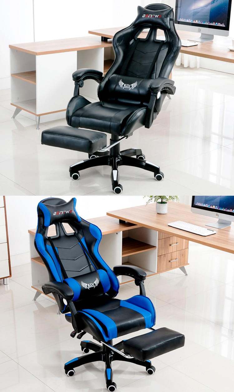 New products WCG gaming chair ergonomic computer armchair  office home swivel massage chair lifting adjustable chair