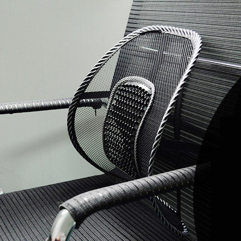 Chair Back Support Massage Cushion Mesh Relief Lumbar Brace Car Truck Office Home Cushion Seat Chair Lumbar Back Support Chair