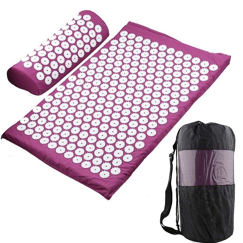 Massager Cushion Massage Yoga Mat Acupressure mat Relieve Stress Back Body Pain Spike Mat Massage Mat