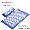 D blue mat pillow