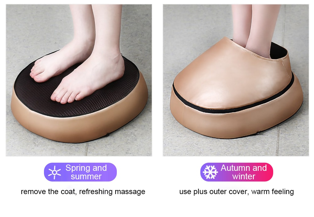 Electric foot massager roller Massage Machine fashion leather massager for back foot Infrared With heating Shiatsu Kneading