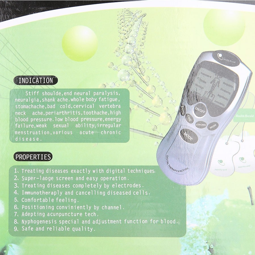 Electrode Health Care Tens Acupuncture Electric Therapy Massageador Machine Pulse Body Slimming Sculptor Massager Apparatus