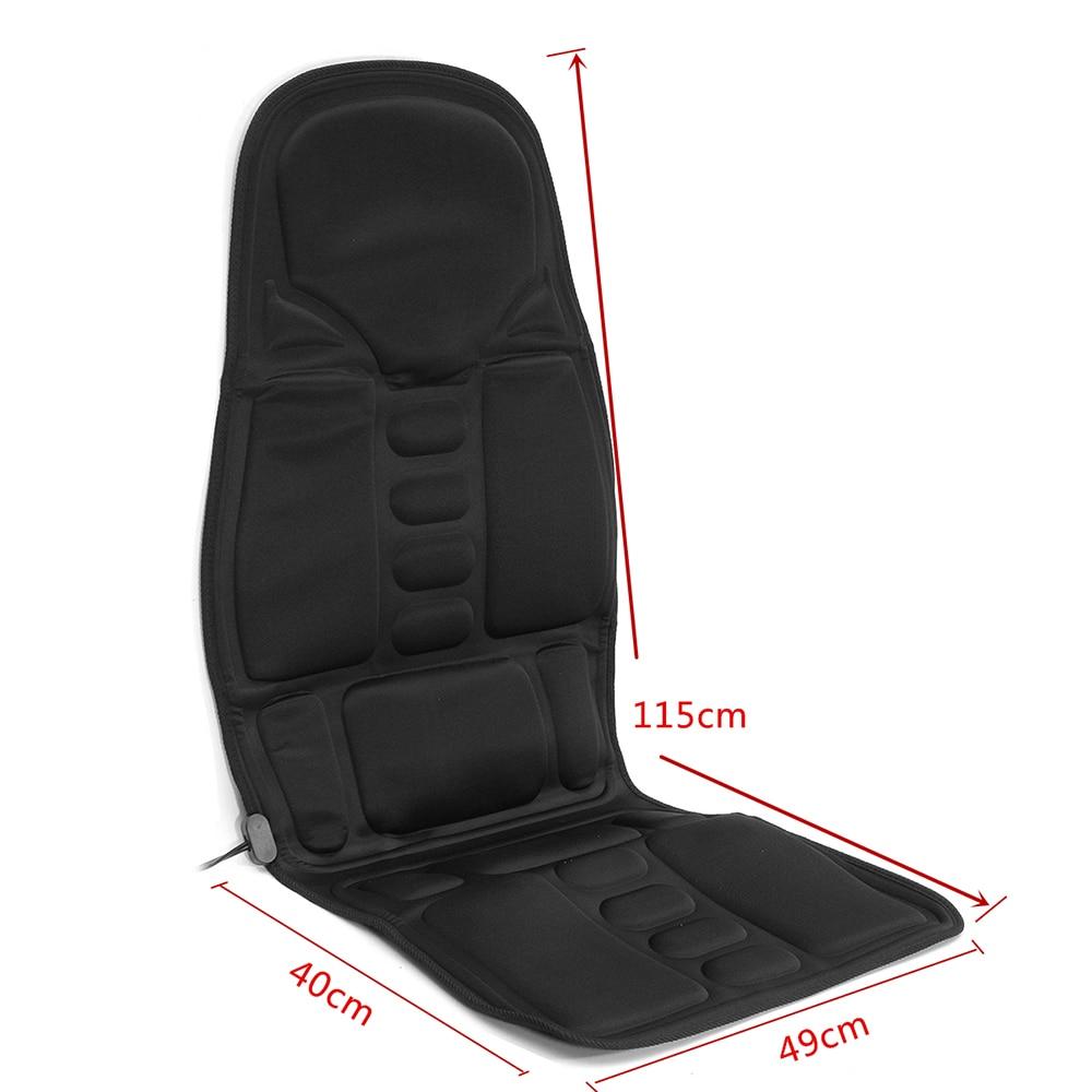 Electric Vibrating Massage Cushion Home Car Seat Vibrator Portable Massager Infrared Heating Pat Back Vibrator Mat Pain Relief