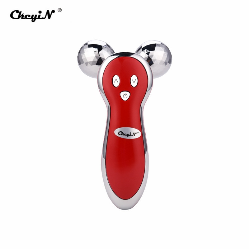 3D Massager Roller of Micro Current Vibration Electric Massager Full Body Anti Wrinkle Roller Ball Massage Lymphatic + FREE GIFT