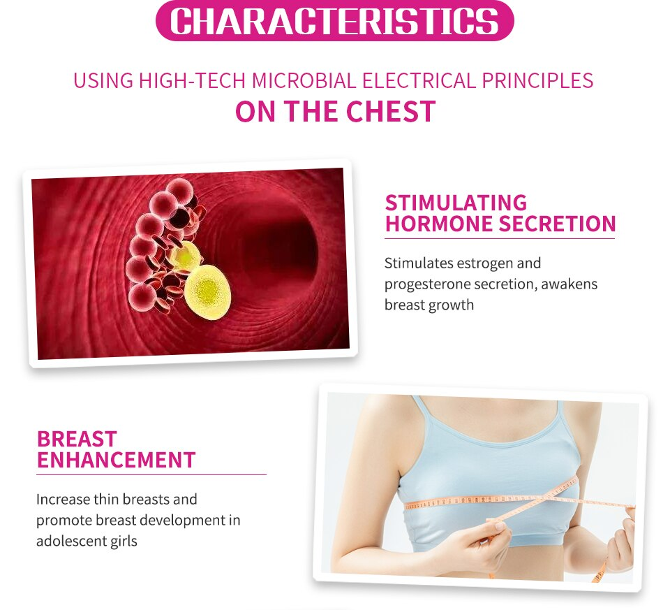 Chest Mount Breast Massager Women Electronic Machine Muscle Pain Relief Firmer Health Care Women Tens Breast Massage Instrument