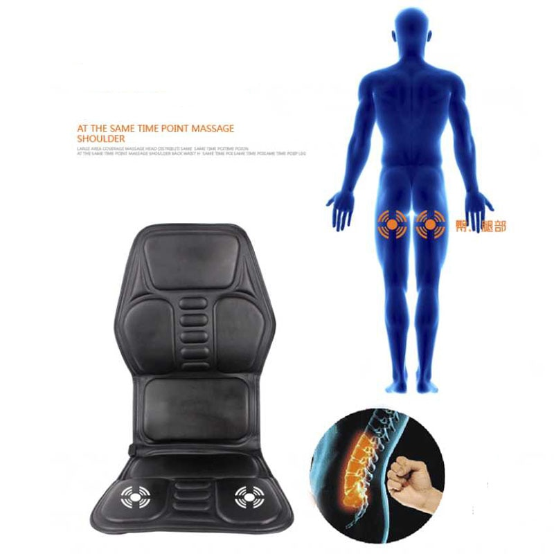 massager electric Heating Vibrating Back Massage Chair Cussion machine Car Home Office Lumbar Neck Mattress Pain Relief reliever