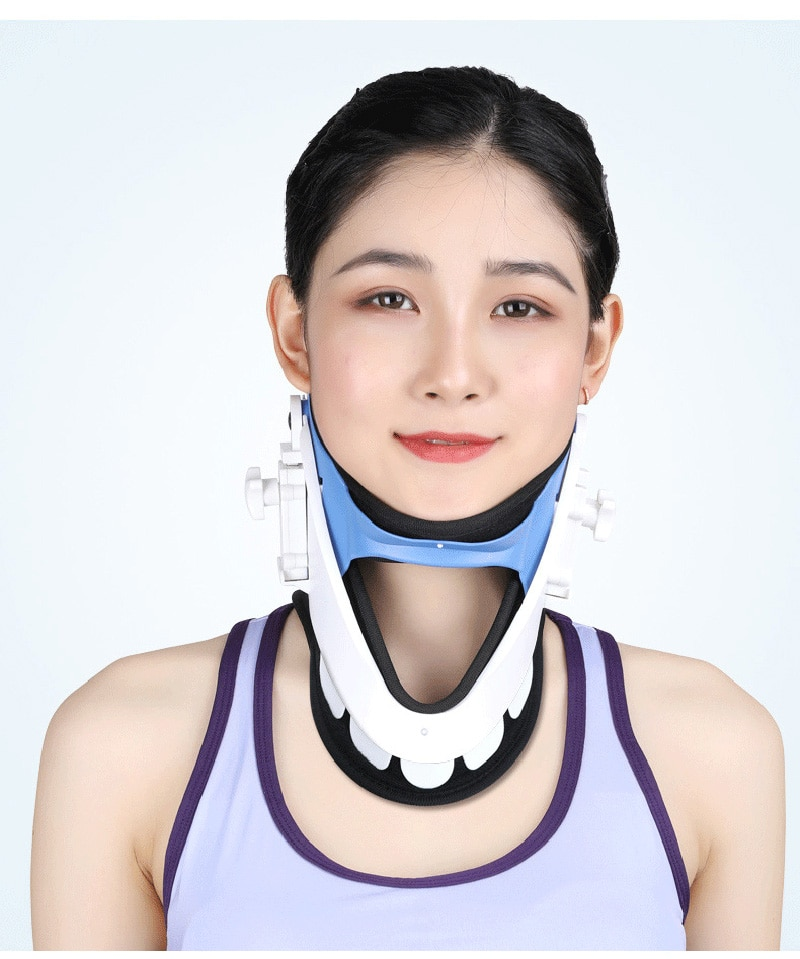 Medical Neck Support Cervical Vertebra Tractor Neck Brace Support  Correct Adjustable Traction Treatment Posture Correction