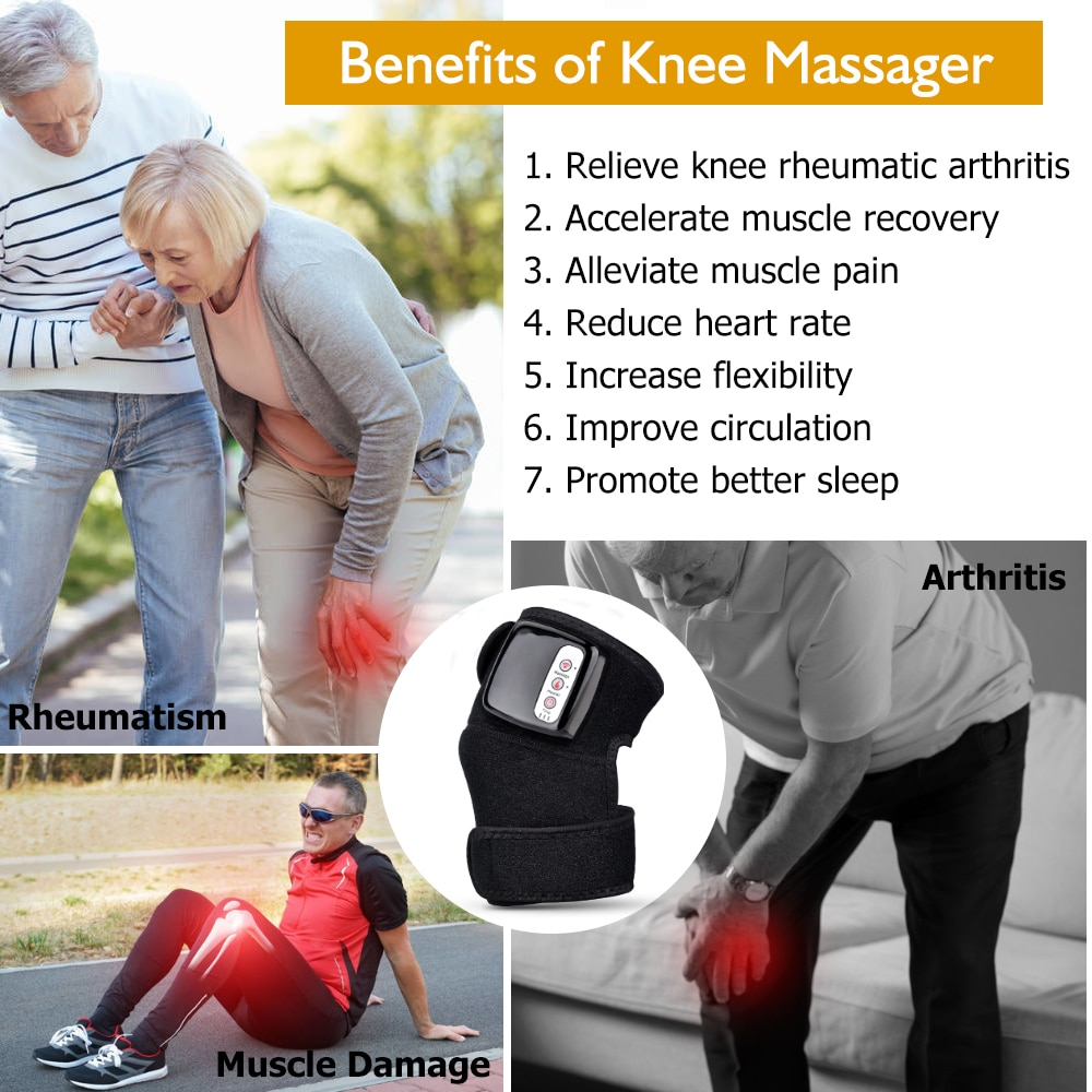 Knee Joint Physiotherapy Massager Quick Effect Electric Heating Massager Pain Relief Rehabilitation Health Care Tool Gift