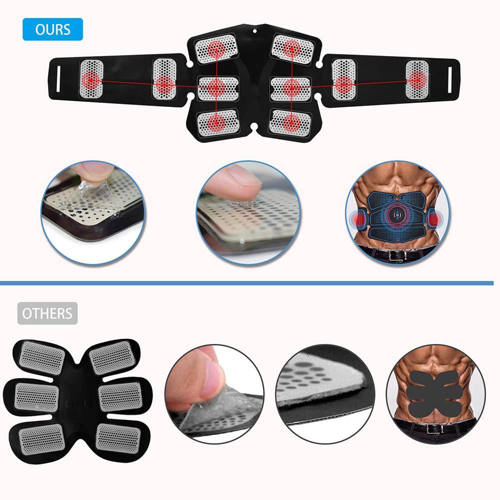 Muscle Stimulator ABS Hip Trainer EMS Abdominal Belt Electrostimulator Muscular Exercise Home Gym Equipment Electrostimulation