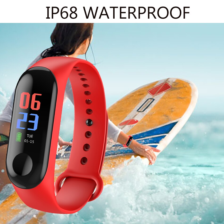 M3 Smart Watch Send Charger Wristband IP67 Waterproof Fitness Tracker Smart Bracelet Big Touch Screen for Men Women Watches