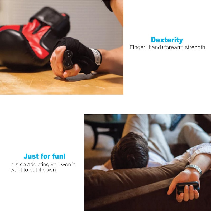 Aluminum Alloy Finger Fitness Hand Grips Adult Finger Exercise Rehabilitation Training Device Anti Anxiety Office Decompression