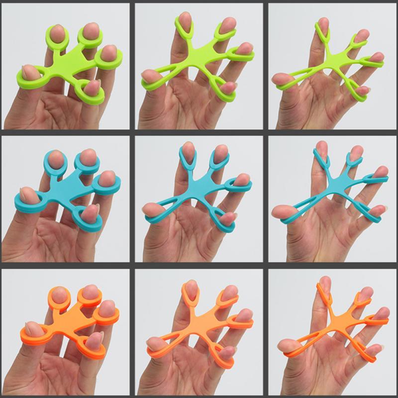 New Fitness Hand Finger Trainer Pull Ring Band Tension Tool Strength Exerciser Training Finger Rehabilitation Trainer 3 Levels