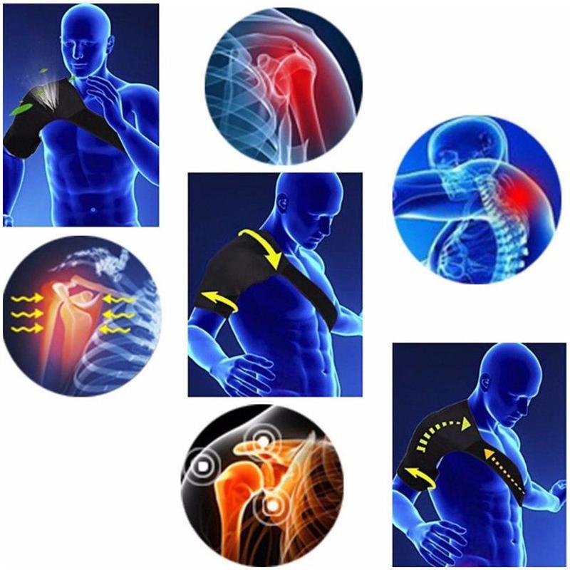 Adjustable Shoulder Brace Straps Therapy Back Support Pain Injury Dislocated Orthopedic Care Wrap Rehabilitation Belt Shoul T2J4