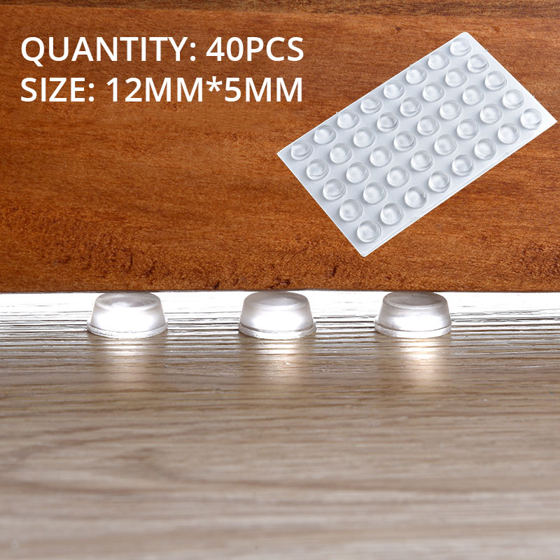 KAK 30-80PCS Self Adhesive Silicone Furniture Pads Cabinet Bumpers Rubber Damper Buffer Cushion Protective Furniture Hardware