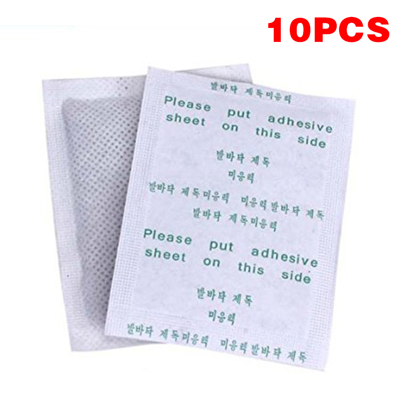 10Pcs/bag Weight Loss Detox Foot Pads Slimming Detoxify Remove Toxins Health Foot Care Relax Body Help Sleep Skin Care TSLM2