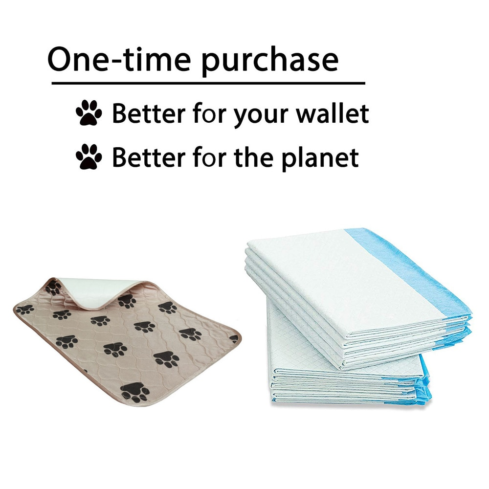 Washable Dog Pee Pads Waterproof Pet Puppy Training Mat Anti-Slip Leak Proof Puppy Training Mats Sofa Mattress Protector Cover