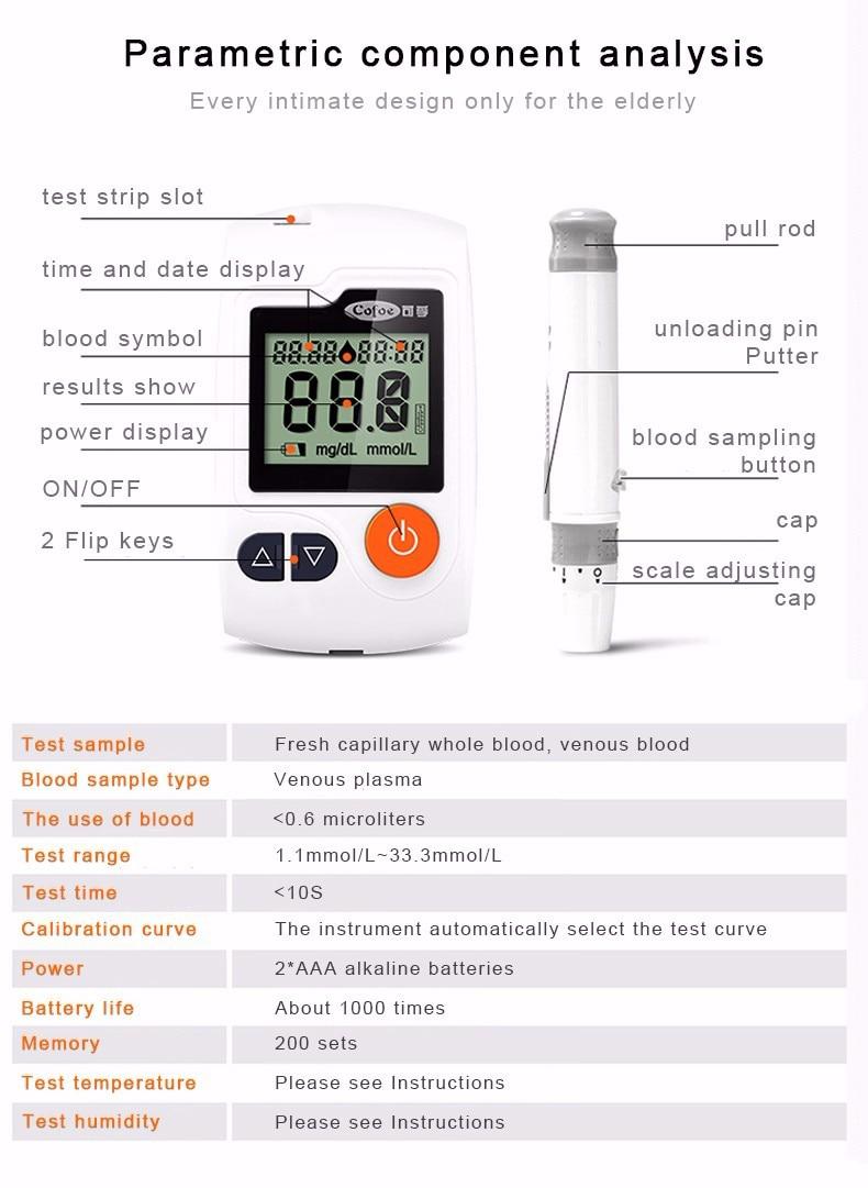 Cofoe Portable Wrist Blood Pressure Monitor & Cofoe Yili Blood glucose meter Diabetes Tester with 50pcs Test Strips and Lancets
