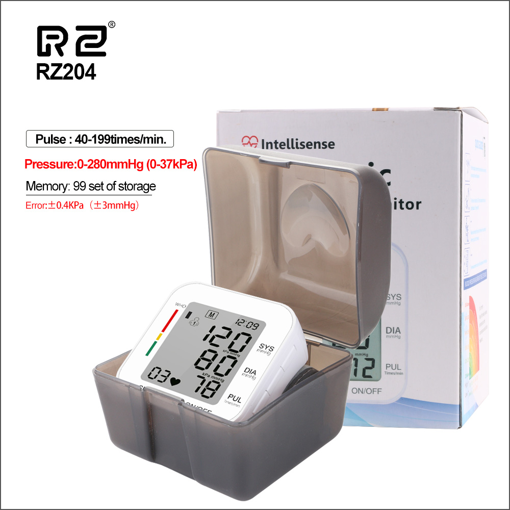 RZ Digital Wrist Blood Pressure Monitor Pulse Rate Heart Beat Rate Meter Device Medical Equipment Tonometer BP Sphygmomanometer