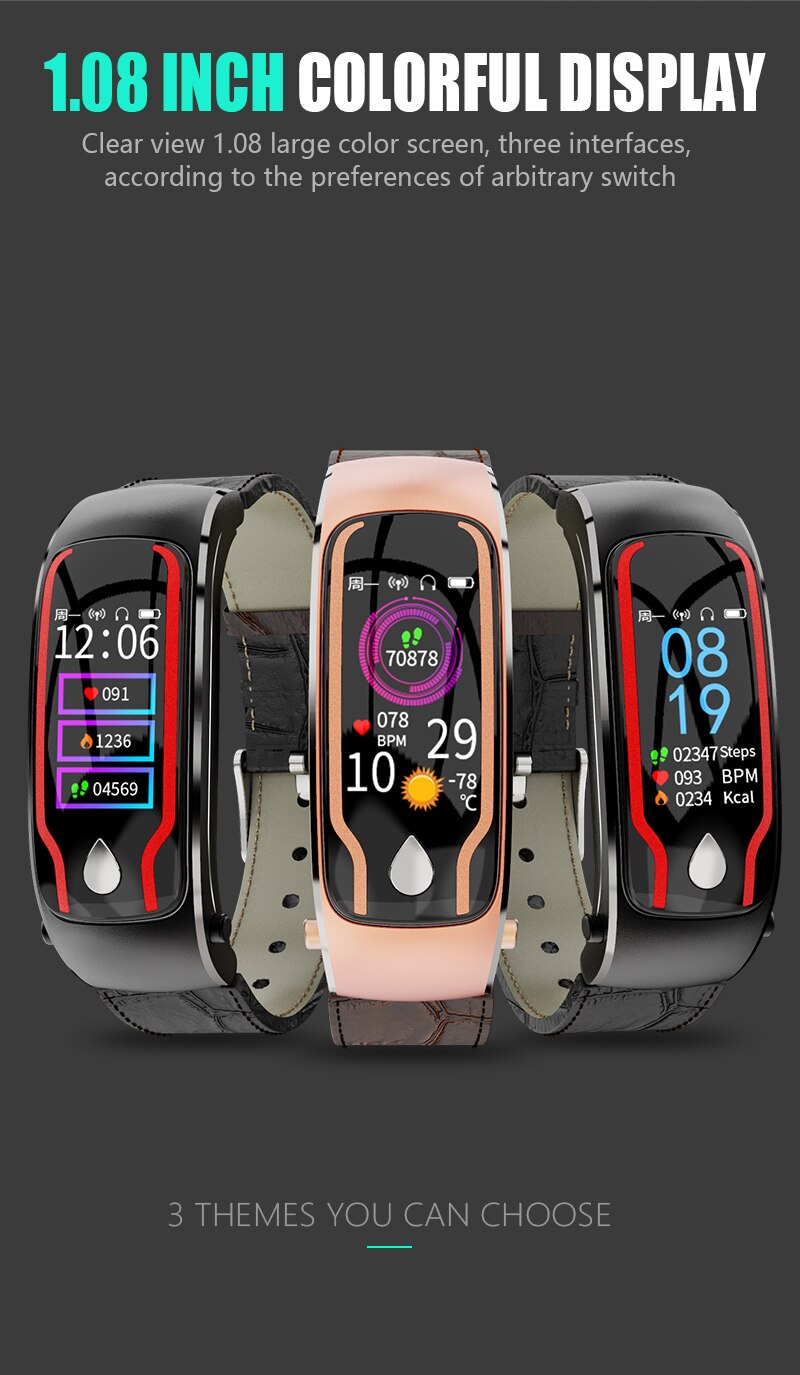 Smart Talk Band Activity Fitness Tracker Blood Pressure Smart Bracelet Sport Wristband Earphone Band 2 in 1 Monitor Smart Watch