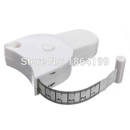 High Qulaity 1.5m Fitness Accurate Body Fat Caliper Measuring Body Tape Ruler Measure Tape Measure White Body Fat Caliper