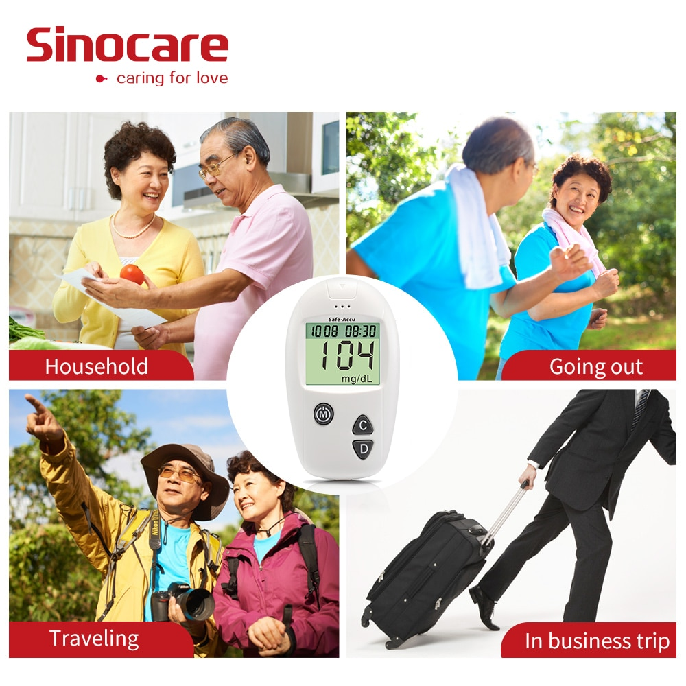 [200pcs] Sinocare Blood Glucose Test Strips ( for Safe-Accu only )