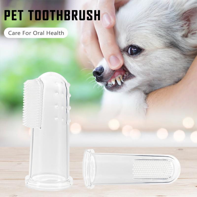 pet Teeth Care 2020 New  Super Soft Pet Finger Toothbrush Dog Brush Bad Breath Tartar Teeth Tool Dog Cat Cleaning Supplies
