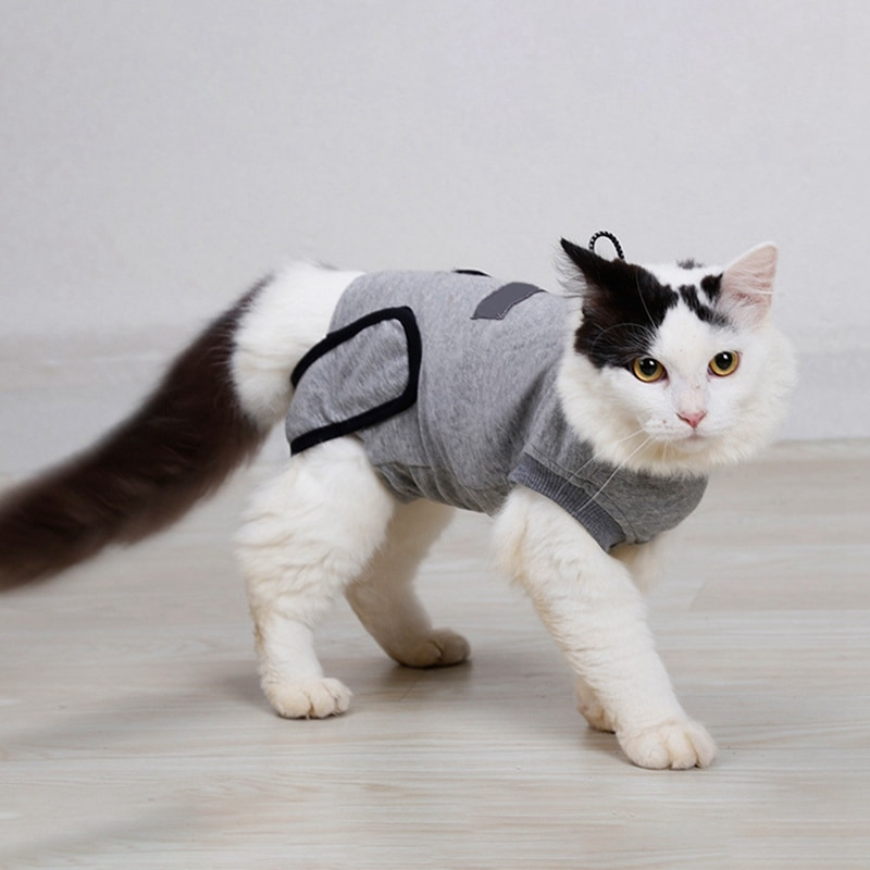 Pet Cat Dog Recovery Suit Sterilization Care Prevent Lick After Surgery Wear
