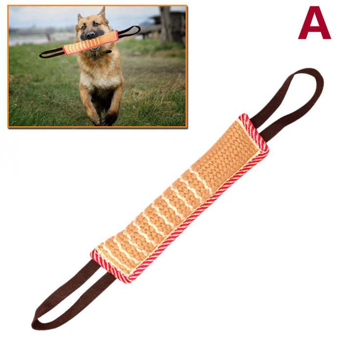 1 Pc Dog Tug Toy Bite Pillow Strong Pull Toy Dog Training with 2 Rope Handle Bite Tooth Cleaning Toy zabawki dla psa LBShipping