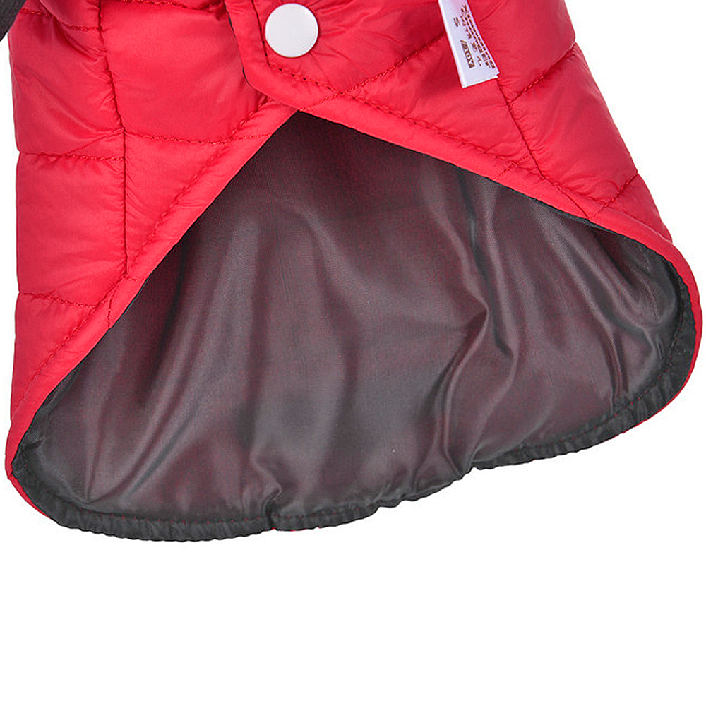 Small Dog Clothes Winter Chihuahua Clothing Pet Jacket and Coat Waterproof ropa para perros for Small Medium Dog Red